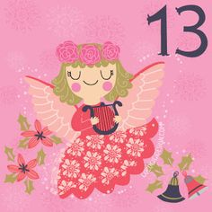 Christmas advent 13 © Gina Maldonado 2015 cocogigidesign.com #Christmas #angel #advent