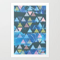 Triad Pattern Art Print by Amy-Marie Reynolds - $13.97
