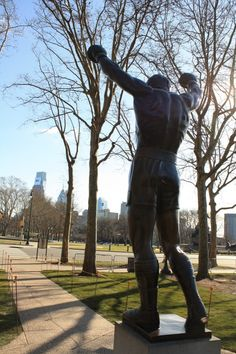 Statue Donated by Sylvester Stalone After Filming the Rocky Movies, Philadelphia, Pennsylvania