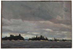 tom thomson - sketch for grey day in the north (1912)