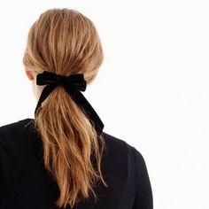 Velvet hair tie : Women accessories | J.Crew