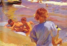 """joaquin sorolla y bastida children on the beach valencia"""