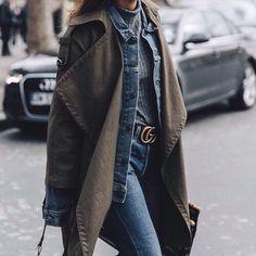 Dieses und weitere Luxusprodukte finden Sie auf der Webseite von Lusea.de TheyAllHateUs denim gucci belt kahki - Women's Belts - amzn.to/2hOqA0h Clothing, Shoes