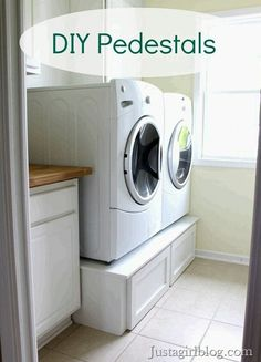 Build your own laundry pedestal