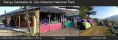 Camping Site at Doi Inthanon National Park and food to eat Chiang Mai Thailand