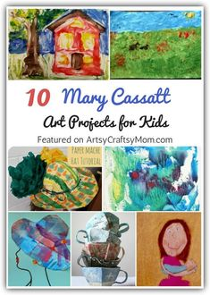 10 Mary Cassatt Art Projects for Kids Mary Cassatt's work focused on mothers and children, which is why kids will love learning about her with these simple Mary Cassatt Art Projects for Kids. Kids Art Class, Art Lessons For Kids, Art Lessons Elementary, Projects For Kids, Art For Kids, Art Projects, Preschool Art Lessons, Kid Art, Kunst Picasso