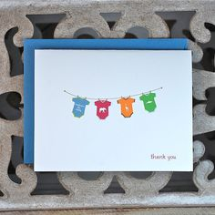 Etsy: Baby Thank You Cards by SweetBellaStationery.