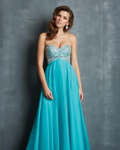 Gorgeous beading and flowing chiffon from Night Moves 7053 #ipaprom