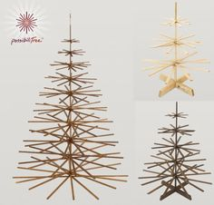 If It's Hip, It's Here (Archives): The Top Modern Wood Christmas Trees For 2009 (updated for Christmas Tree Ugly Sweater, Wood Christmas Tree, Christmas Tree Design, Holiday Tree, Christmas Crafts, Christmas Decorations, Christmas Desserts, Holiday Decorating, Christmas Stuff