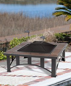 Look what I found on #zulily! Tuscan Tile Square Fire Pit #zulilyfinds