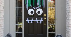 DIY Front Door Halloween Monster – Modern Day Moms