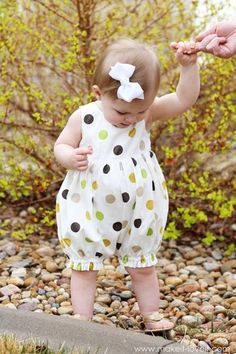DIY Kids Fashion : DIY Turn a Baby Dress into a Bubble Romper