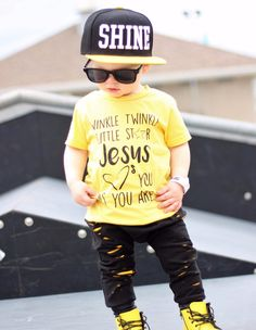 Jesus Loves You Tee (Yellow, Caribbean Blue) – Reagan Twenty Five