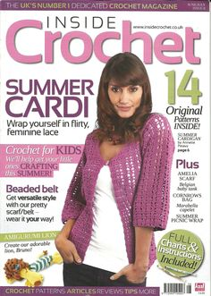 Crochet magazine brings you today's most elegant and creative patterns, all original and never-before-published! You get the latest fashion looks in the newest. Knitting Magazine, Crochet Magazine, Knitting Books, Crochet Books, Crochet Chart, Crochet Stitches, Crochet Cardigan, Knit Crochet, Crochet Designs