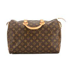686932a04345 Louis Vuitton Monogram Canvas Speedy 35 Bag (Pre Owned)