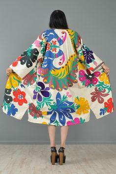 Stylingsinja — Eastern European Embroidered Peacock Kimono...