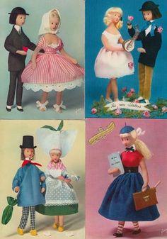 """Dolls """"Les Poupées de Peynet"""" France 43 Postcards Pre 1975   eBay"""