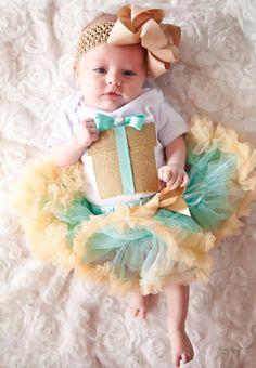 baby petticoat + body + haarband Kirei Sui