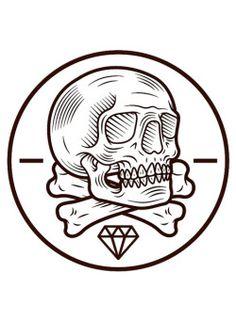 Skull Logo, Skull Art, Tattoo Studio, Tattoo Drawings, Art Drawings, Skulls And Roses, Arte Popular, Skull Tattoos, Designer