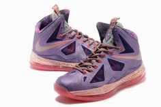 New LeBron James Shoes 2013 | 2013 New Nike Zoom Lebron James 10 Shoes ELITE Purple Peach for sale. Have a pair of these myself
