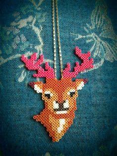hert strijkkralen - perler beads deer