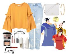 """Ling"" by disneyonrepeat ❤ liked on Polyvore featuring Topshop, MANGO, Gap, Furla, Ileana Makri, Bobbi Brown Cosmetics, Too Faced Cosmetics, MAC Cosmetics, NARS Cosmetics and disney"
