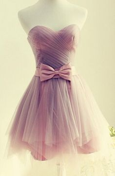 Cute Short Tulle Sweetheart Prom Dresses  I like this but not pink.