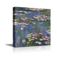 """Amazon.com: Water Lilies by Claude Monet Giclee Canvas Prints Wrapped Gallery Wall Art 