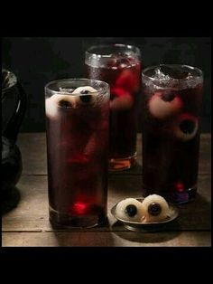 Lychee and blue berry eyeball punch