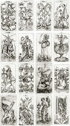 The pack of cards by the South German Engraver, c.1496