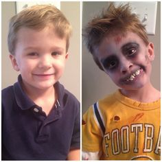 cute kids into zombies. Turning cute kids into zombies.Turning cute kids into zombies. Simple scary face paint ideas for Halloween. Get the full guides here. Kids Zombie Makeup, Zombie Face, Kids Makeup, Makeup Ideas, Little Boy Costumes, Kids Costumes Boys, Halloween Costumes For Kids, Halloween 2018, Halloween Makeup