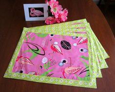 Retro Atomic Mid Century Style Pink Flamingo by TikiQueenArts, $35.00
