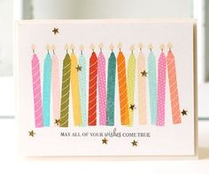Birthday Candles Card by Betsy Veldman for Papertrey Ink (July 2013)