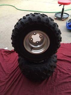 Honda 350X 250R 400EX 450R 300EX OEM Rear Wheels DUNLOP Rear Tires **NICE*
