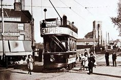 Nottingham City Tramcar in Bulwell Market Place - circa 1901 Nottingham City, Mode Of Transport, The Good Old Days, Alter, Times Square, Transportation, The Past, History, Buses