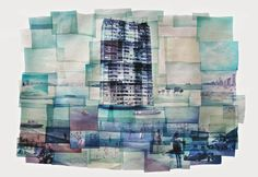 """Dreamlands, Wastelands by Rhiannon Adam """"This isn't made digitally, but by the Polaroid emulsion lift process, where the layers of th..."""