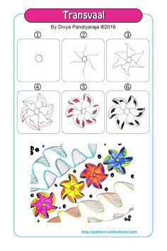 Transvaal tangle pattern  by Divya Pandiyaraja  PatternCollections.com                                                                                                                                                     More