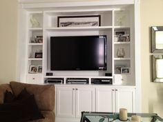 Custom Built In Entertainment Center Made By My Hubby For A Friend