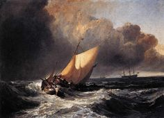 Joseph Mallord William Turner - Dutch Boats in a Gale