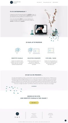 Identité visuelle + design du site Catherine Surr Webdesign | catherinesurr.fr. J'aide les entrepreneuses en créant l'identité visuelle et le site web qui leur correspond !