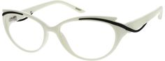 White Plastic Full-Rim 205630