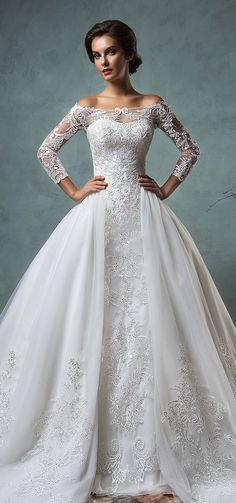 Top wedding dress under shoulder make bust sexy 9