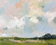 """Daily Paintworks - """"April Sky"""" - Original Fine Art for Sale - © Pamela Munger"""