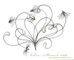 a little lime: Zentangle by Helen Williams