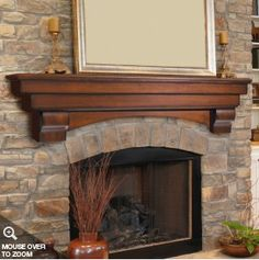Love the character and arch of this mantle!!