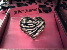 Betsey Johnson Zebra Ring