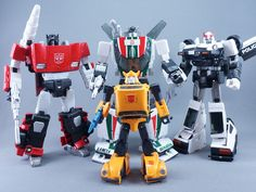 Transformers Masterpiece MP-21 Bumble (Bumblebee) with MP-12 Lambor, MP-20 Wheeljack and MP-17 Prowl
