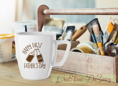 Happy First Father's Day, Father's Day Gift, Father's Day Cup, Funny New Dad Present, Funny New Dad, Funny Dad Present, Dad has Everything by Cre8tiveDeZinez on Etsy