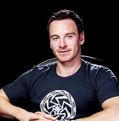 "Michael Fassbender ""You smiled, you smiled Oh and then the spell was cast And here we are in heaven"""