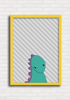 c3b98bf3d Poster Infantil p  Meninos - Dinossauros Listras 2 - Just Lia TO8025.  Quadros Para CriançasQuadros Para QuartoPôster ...